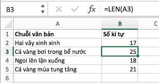 Cách sử dụng hàm LEN trong Excel khá đa dạng với nhiều phương thức khác nhau theo từng giá trị