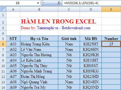 Bạn đã hiểu rõ hàm LEN trong Excel có nghĩa là gì hay chưa?