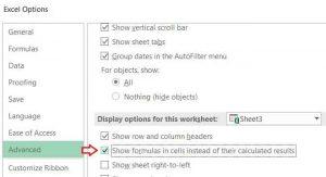 Khắc phục Excel không nhảy công thức